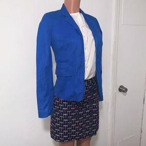 "J Crew ""schoolboy"" blue blazer"